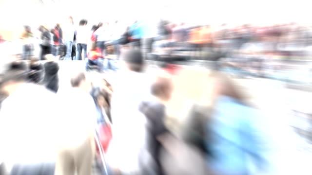 People in slow motion. HD video