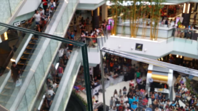 People in the mall video