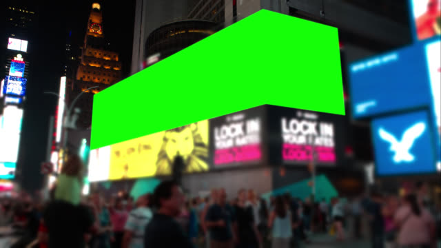 People in Time square New York City Green screeen video