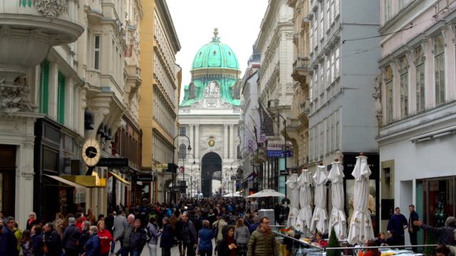 People in Vienna City, Time Lapse video