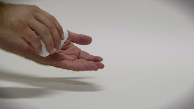 People Man Health Care Drugs Pills Medication Aspirin Treatment Painkiller video