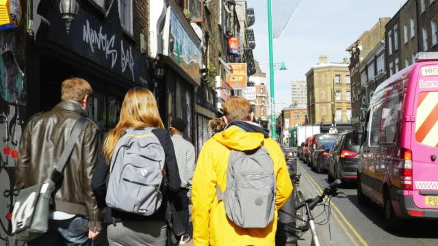 People Moving In London Shoreditch Brick Lane (UHD) video