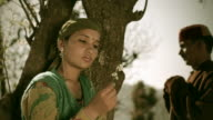 People of Himachal Pradesh: Beautiful young woman in nature video