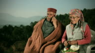 People of Himachal Pradesh: Senior couple using mobile phone video