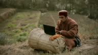 People of Himachal Pradesh: Young farmer using laptop video