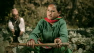 People of Nepal: Happy farmers in cabbage farm. video