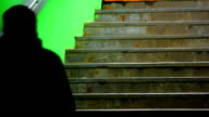 People on Dark Green Staircase video