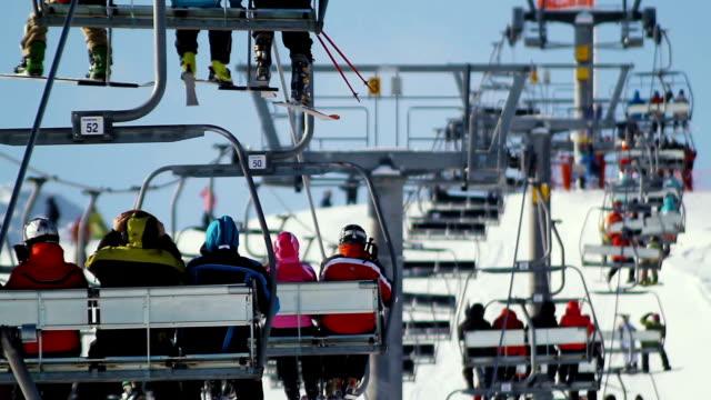 People on the ski lift video