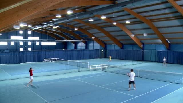 PAN HA WS People Playing Indoor Tennis video