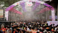 People playing water in Songkran festival Bangkok, Thailand video