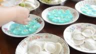 People Prepare Thai Dessert video