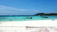 People relaxing on a Bundhaya beach koh lipe video