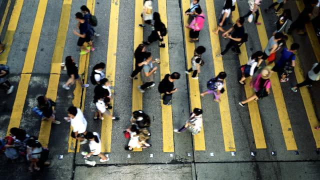 People Rush in Hong Kong, China video
