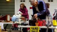 People shop at yard sale video
