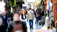 people shopping in Athens video