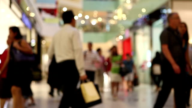 People Shopping Mall Consumerism video