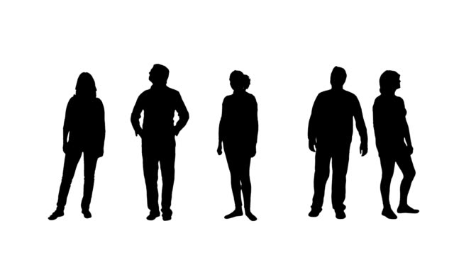 People silhouettes video
