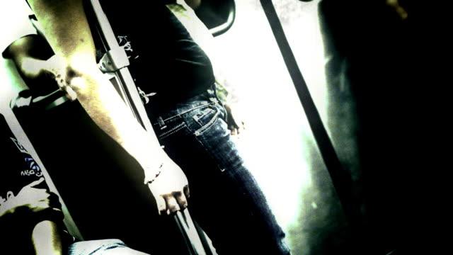 People Standing on Malfunctioning Subway video