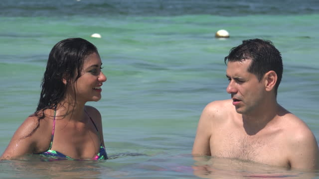 People Swimming Summer Vacation video