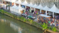 People travel and enjoy on Tiber River in Rome, Italy video