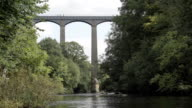 People Traveling Over The Pontcysyllte Aqueduct video