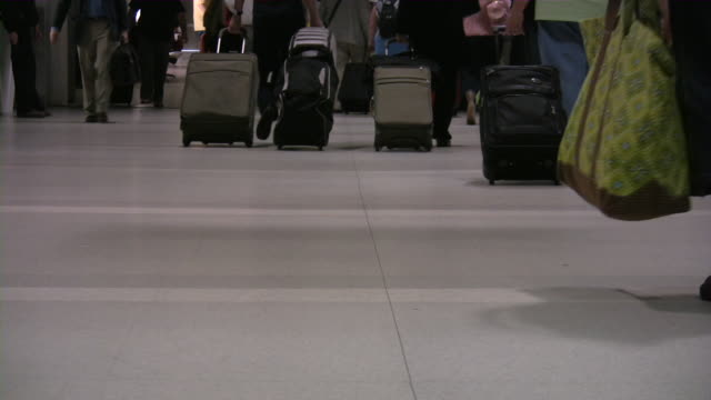 People Traveling. Passengers at the airport. video