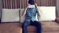 People Using Virtual Reality video