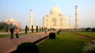 People visit Taj Mahal in agra, india video