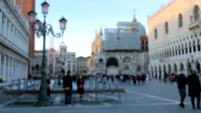 People walk on streets in Venice, Italy. Venice is a city video