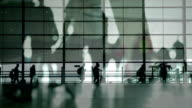 People walking at airport video