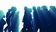 People Walking By - Silhouette video