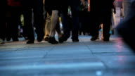 people walking - close up of feet video