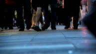 people walking - close up of feet video