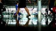 People Walking In Airport video