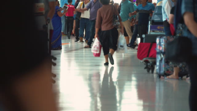 People Walking in Airport (Real Time) video