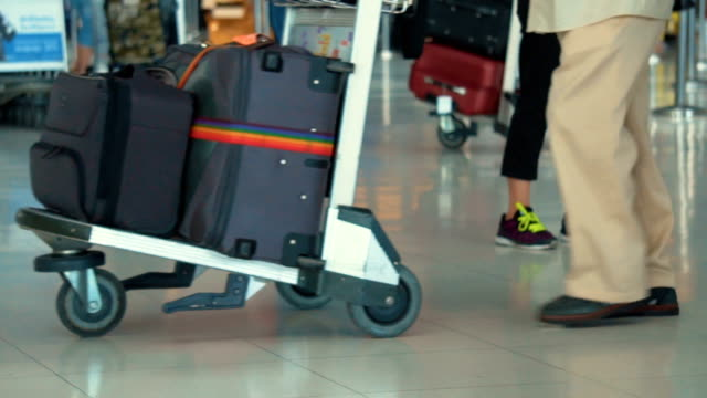 People Walking in Airport,Slow motion video