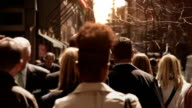 People walking in busy street. video