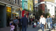 People Walking In London Carnaby Street (UHD) video