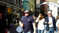 People Walking In London Carnaby Street video
