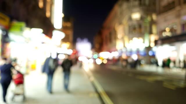 T/L People Walking In London Coventry Street (Defocused) video