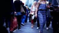 People Walking In London Coventry Street (4K/UHD to HD) video