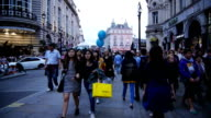 T/L People Walking In London Coventry Street video