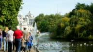 People Walking In London St James's Park (4K/UHD to HD) video