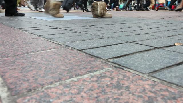 HD: People walking in rush hour video