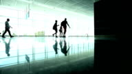 People Walking In The Airport (Real Time) video