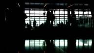 People Walking in the Airport video