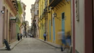 People walking in the streets of Old Havana, Cuba video