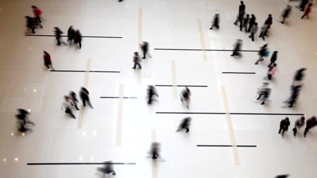 People walking inside shopping center video