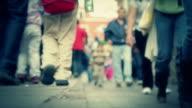People walking legs video