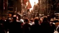 People Walking on a Manhattan avenue. video